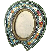 Vintage Made in Italy Micro Mosaic Picture Frame
