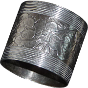 Wood & Hughes Coin Silver Napkin Ring