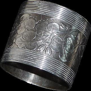 Wood & Hughes Coin Silver Napkin Ring