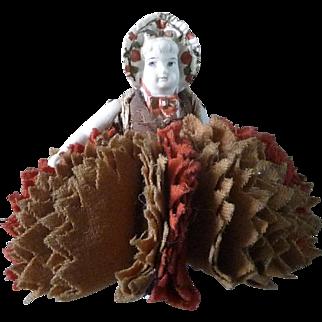 Antique Bisque Doll Pen Wipe
