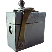 Traveling Inkwell Metal with Glass Interior