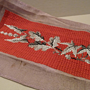 Victorian Beaded Needlepoint Beadwork Panel
