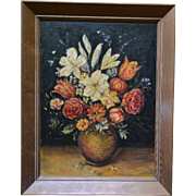 Floral Still Life Oil Painting by Vivian R Huebley