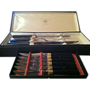 Carving Set with Six Steak Knives in Original box