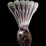 Christofle France Set of 6 Demitasse Spoons Vendome Pattern