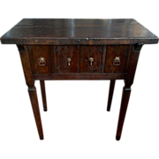 17th Century Spanish Walnut Campaign or Tavern Table