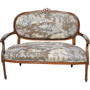 Louis XVI Settee or Canape Late 19th Century