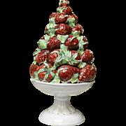 Italian Ceramic Topiary with Strawberries