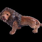 Austrian Cold Painted Bronze Lion Figure