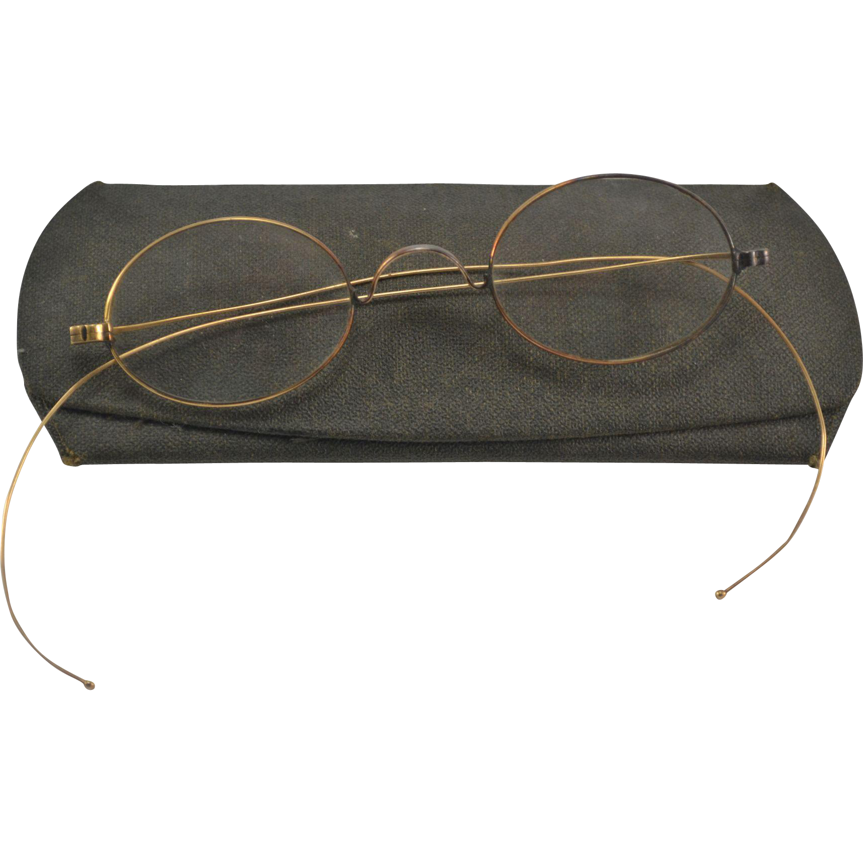 Victorian 14K Yellow Gold Eyeglasses with Case from ...