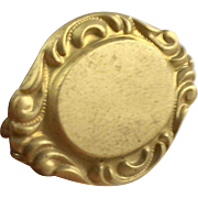 Victorian Gold Filled Signet Wax Seal Hat Pin