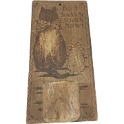 Flemish Art Wooden Match Holder with Cats