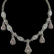 Micro Mosaic Dangle Drop Necklace