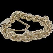 """Gold Filled Double Link 7 1/2"""" Charm Bracelet"""