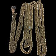 Gold Filled Victorian Watch Slide Chain