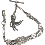 Continental Silver Albertina Pocket Watch Chain Bracelet