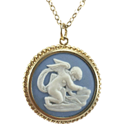 Wedgwood Gold Filled Cherub Pendant & Chain