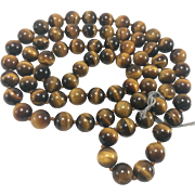 "30"" Stand of 10mm Tiger's Eye Beads"
