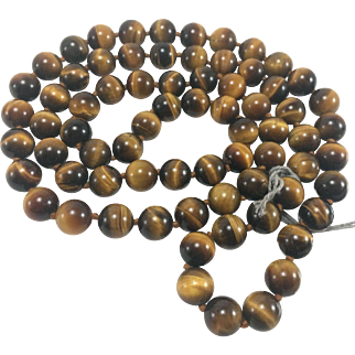 """30"""" Stand of 10mm Tiger's Eye Beads"""