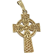 9K YG Celtic Cross