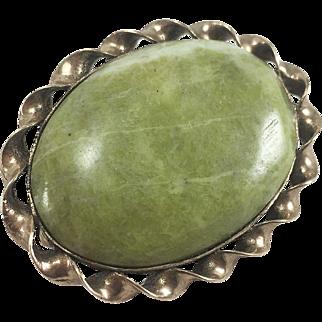 9ct YG Irish Connemara Marble Pin/Brooch