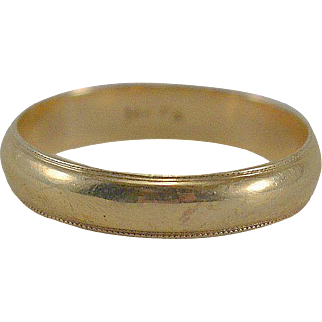14K YG Wedding Band Size 11