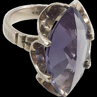 10K YG & Amethyst Ring Size 6
