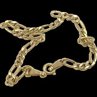 10K YG Figaro Link 7 1/4 Inch Bracelet