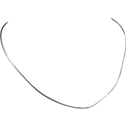 """14K White Gold Snake Chain 16"""" to 18"""" As Is"""