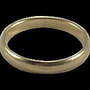 14K Gold Plain & Simple Band Sz 7.5