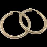 14K YG Large Hoop Earrings
