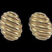 14K YG Shrimp Earrings