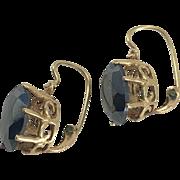 14K YG Hematite Earrings