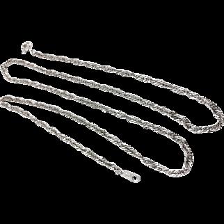 "Platinum Diamond Cut 18"" Rope Chain"
