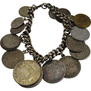Coins of the World Bracelet on an 800 Silver Chain - Red Tag Sale Item
