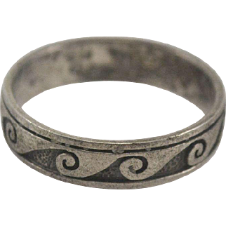 Peter Stone Sterling Silver Band/Ring Sz 11