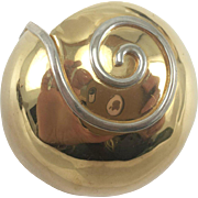 Courtney Design Sterling Silver Snail Shell Pin/Brooch
