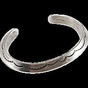 Heavy Navajo Sterling Cuff Bracelet 56 Grams
