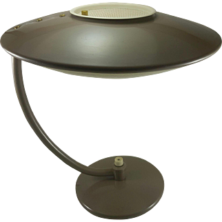 Dazor Flying Saucer Spaceship Table Lamp Model 2006