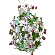 Italian Tole Strawberry Light Fixture