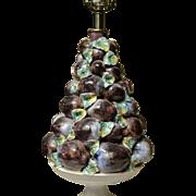 Ceramic Plum Topiary Lamp