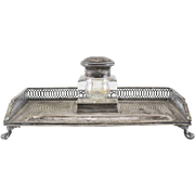 Dutch Silver Inkwell and stand Dated 1913