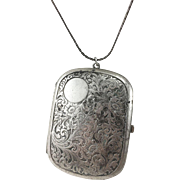 Saart Bros. Sterling Silver Purse/Compact Pendant