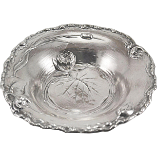 International Water lily Sterling Silver Candy/Nut Dish/Bowl