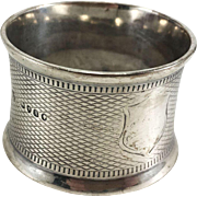English Sterling Silver Napkin Ring