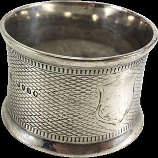 English Sterling Silver Napkin Ring