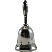 Wallace Sterling Silver Dinner Bell Foliate Pattern Handle