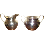 Sterling Silver Sugar and Creamer by International Silver Co.