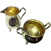 Shreve & Co Sterling Silver Footed Sugar & Creamer