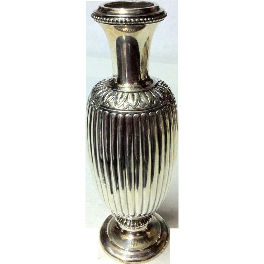 gorham sterling silver tall bud vase from rubylane sold on. Black Bedroom Furniture Sets. Home Design Ideas
